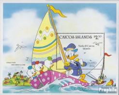 Caicos-Inseln Block5 (kompl.Ausg.) Postfrisch 1984 Walt-Disney-Figuren - Turks And Caicos