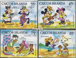 Caicos-Inseln 42-45 (kompl.Ausg.) Postfrisch 1984 Walt-Disney-Figuren - Turks And Caicos