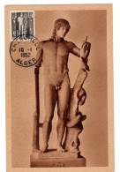 CARTE MAXIMUM - ALGERIE - Apollon De Cherchell (1952) - Cartoline Maximum