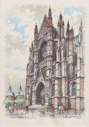 Carte Postale       BARRE  DAYEZ   BEAUVAIS   La Cathedrale Portail Sud     2047 D - Beauvais