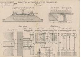 """1943 Ecole Spéciale Des Travaux Publics"""" PONCEAU METALLIQUE"""". 4 Scans Dont 1 Document Manuscrit. - Public Works"""