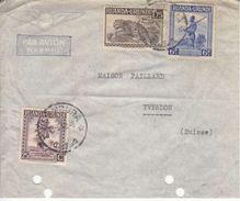 DEVANT DE LETTRE POUR LA SUISSE - YVERDON - AVEC MULTI AFFRANCHISSEMENT - 1948 - Ruanda-Urundi