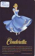 Rare Télécarte Ancienne Japon NEUVE DISNEY * 110-205451 * CINDERELLA (5223) CENDRILLON Japan MINT Phonecard * FILM MOVIE - Disney