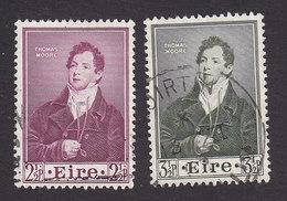 Ireland, Scott #145-146, Used, Thomas Moore, Issued 1952 - 1949-... Republic Of Ireland