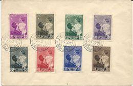 LETTRE 1937 AVEC 8 TIMBRES ET CACHET PREMIER JOUR - FDC