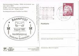 27097. Postal AACHEN (Alemania Federal) 1985. BAHNPOST, Ferrocarril Bundesbahn - [7] República Federal