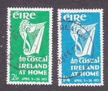 Ireland, Scott #147-148, Used, Irish Harp, Issued 1953 - 1949-... Republic Of Ireland