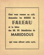Publicité Pour Les Bières Du Faleau Et La Bière De Maredsous + 3 Obl Temporaires De 1961 Namur Deurne Et Arlon - Publicités