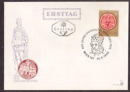 Z55  Austria, Österreich 1965  FDC (Ersttag) - University - 600 Jahre Universität Wien - FDC