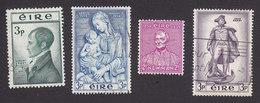 Ireland, Scott #149, 151, 153, 155, Used, Robert Emmet, Madonna, Newman, John Barry, Issued 1953-56 - 1949-... Republic Of Ireland