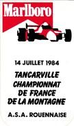 AUTOCOLLANT  .MARLBORO..14 JUILLET 1984  TANCARVILLE CHAMPIONNAT DE FRANCE DE LA MONTAGNE..A.S.A. ROUENNAISE - Stickers