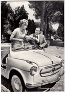 AUTOMOBILI - CARS - FIAT 600 JOLLY - COPPIA - Vedi Retro - Voitures De Tourisme