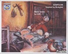 Sierra Leone (completa Edizione) MNH 1995 Walt-Disney-Cifre Su Dipinti - Sierra Leona (1961-...)