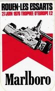 AUTOCOLLANT  .MARLBORO..ROUEN-LES ESSARTS..22 JUIN 1976 TROPHEE D'EUROPE F2 - Stickers