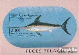 Sahara Ausgabe Der Exilregierung Ohne Gültigkeit Im Int. Postverkehr Nr.20 Postfrisch 1997 Fische - Sahara Espagnol