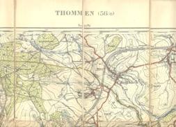 THOMMEN - Carte Topographique Militaire Toilée En Couleurs De 1925  , 56 / 6- 1 /20.000 (b223) - Topographical Maps