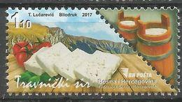 BH-2017-15 CHEESE, BOSNA AND HERZEGOVINA, 1 X 1v, MNH - Bosnie-Herzegovine
