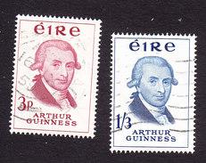 Ireland, Scott #171-172, Used, Arthur Guinness, Issued 1959 - 1949-... Republic Of Ireland