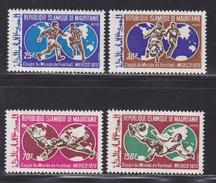 MAURITANIE N°  281 à 284 ** MNH Neufs Sans Charnière, TB (D4449) Coupe Du Monde De Football Au Mexique - Mauritania (1960-...)