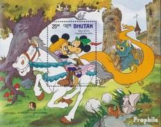 Bhutan Block126 (kompl.Ausg.) Postfrisch 1985 Walt Disney Figuren - Bhutan