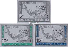 Nordjemen (Arabische Rep.) 722-724 (completa Edizione) MNH 1968 Konrad Adenauer - Yemen