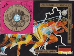 Nordjemen (Arabische Rep.) Block 149 (completa Edizione) MNH 1970 Tedesco Olympic - Yemen