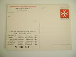 SOVRANO MILITARE ORDINE DI MALTA - Poste Magistrali    NON VIAGGIATA COME DA FOTO - Malta