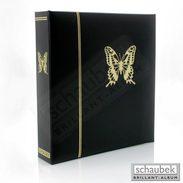 Schaubek KOA-SCHMETTERLING Thematic Album Butterflies - Black Screw Post, In A Binder Leatherette Incl. 31 Thematic Shee - Albums & Binders