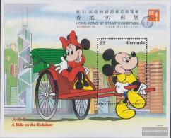 Grenada Block447 (complete.issue.) Unmounted Mint / Never Hinged 1997 Walt-Disney-Figures In Hong Kong - Grenada (1974-...)