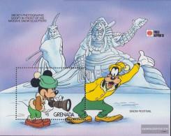 Grenada Block277 (complete.issue.) Unmounted Mint / Never Hinged 1991 Walt-Disney-Figures In Japan - Grenada (1974-...)