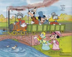 Grenada Block246 (complete.issue.) Unmounted Mint / Never Hinged 1990 Walt-Disney-Figures: Railway - Grenada (1974-...)