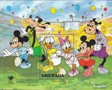 Grenada Block201 (complete.issue.) Unmounted Mint / Never Hinged 1988 Walt-Disney-Figures - Grenada (1974-...)