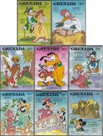 Grenada 1702-1709 (complete.issue.) Unmounted Mint / Never Hinged 1987 Walt-Disney-Figures - Grenada (1974-...)