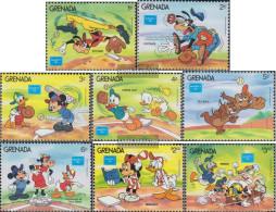 Grenada 1471-1478 (complete.issue.) Unmounted Mint / Never Hinged 1986 Walt-Disney-Figures At Baseball - Grenada (1974-...)