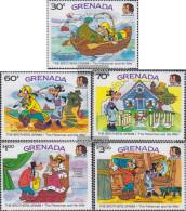 Grenada 1423-1427 (complete.issue.) Unmounted Mint / Never Hinged 1985 Walt-Disney-Figures - Grenada (1974-...)