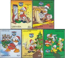 Grenada 1337-1341 (complete.issue.) Unmounted Mint / Never Hinged 1984 Walt-Disney-Figures - Grenada (1974-...)