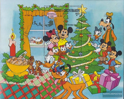 Turks- And Caicos-Islands Block46 (complete.issue.) Unmounted Mint / Never Hinged 1983 Christmas: Walt-Disney-Figures - Turks And Caicos