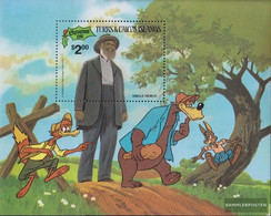 Turks- And Caicos-Islands Block34 (complete.issue.) Unmounted Mint / Never Hinged 1981 Christmas: Walt-Disney-Figures - Turks And Caicos