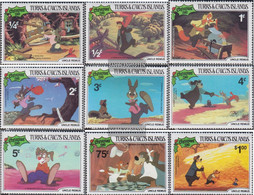 Turks- And Caicos-Islands 554-562 (complete.issue.) Unmounted Mint / Never Hinged 1981 Christmas: Walt-Disney-Figures - Turks And Caicos
