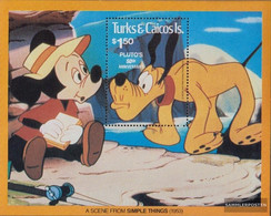 Turks- And Caicos-Islands Block28 (complete.issue.) Unmounted Mint / Never Hinged 1981 Walt-Disney-FIG Pluto - Turks And Caicos