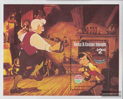 Turks- And Caicos-Islands Block25 (complete.issue.) Unmounted Mint / Never Hinged 1980 Christmas: Pinocchio - Turks And Caicos