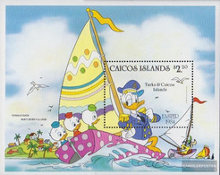 Caicos-Islands Block5 (complete.issue.) Unmounted Mint / Never Hinged 1984 Walt-Disney-Figures - Turks And Caicos