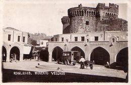 RODI-MERCATO VECCHIO-CARTOLINA VERA FOTOGRAFIA-VIAGGIATA IL 10-2-1932 - Grèce