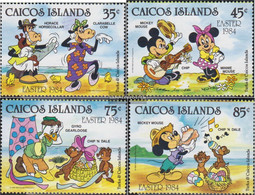 Caicos-Islands 42-45 (complete.issue.) Unmounted Mint / Never Hinged 1984 Walt-Disney-Figures - Turks And Caicos