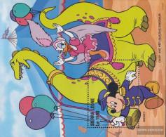 Sierra Sierra Leone Leone Block289 (complete Issue) Unmounted Mint / Never Hinged 1996 Walt-Disney-Figures In Circus - Sierra Leone (1961-...)