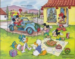 Sierra Sierra Leone Leone Block117 (complete Issue) Unmounted Mint / Never Hinged 1989 Walt-Disney-Figures And Cars - Sierra Leone (1961-...)