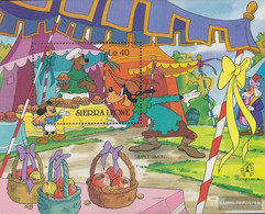 Sierra Sierra Leone Leone Block54 (complete Issue) Unmounted Mint / Never Hinged 1986 Walt-Disney-Figures - Sierra Leone (1961-...)