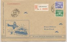 Nederland - 1946 - Trajectpost Naar New York Met 1e KLM Flight Amsterdam - New York - Curacao  - Special Card - Brieven En Documenten