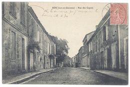 Cpa Sos - Rue Des Capots - Autres Communes