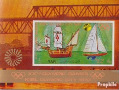 North Yemen (Arab Republic.) Block171 (complete.issue.) Unmounted Mint / Never Hinged 1971 Olympia In Kiel: Sailing Disc - Yemen